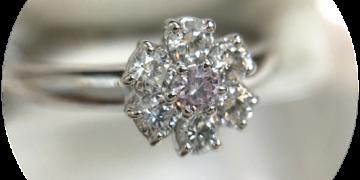 揺れるダイヤ&ピンクダイヤ