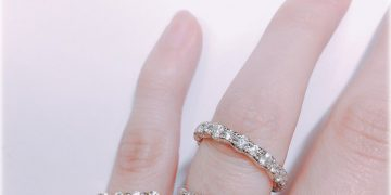 一文字ダイヤモンドリング